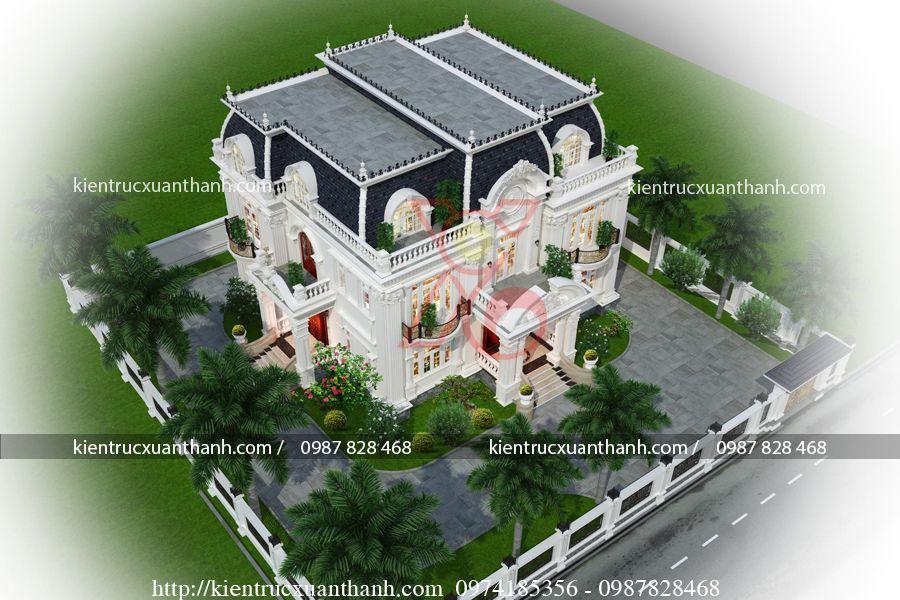 biệt thự 2 tầng tân cổ điển bt18331 - Ảnh 2