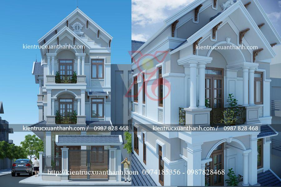 nhà phố hiện đại 2 tầng 2 mặt tiền - ảnh 2