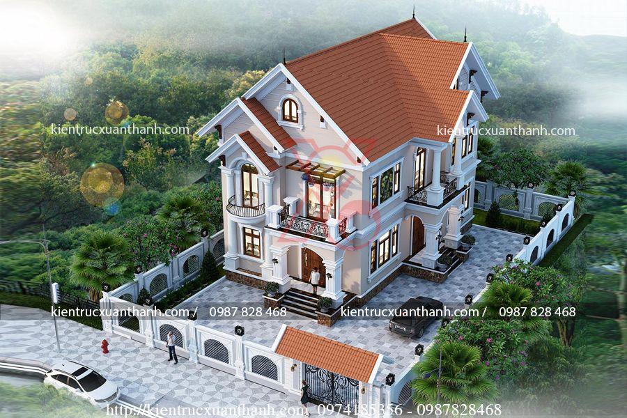 mẫu biệt thự 2 tầng mái thái BT18333 - Ảnh 3