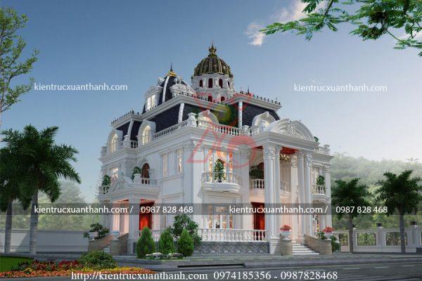 mẫu biệt thự 2 tầng tân cổ điển đẹp BT18335 - Ảnh 1