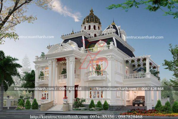 mẫu biệt thự 2 tầng tân cổ điển đẹp BT18335 - Ảnh 2