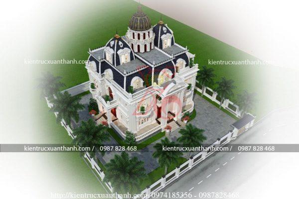 mẫu biệt thự 2 tầng tân cổ điển đẹp BT18335 - Ảnh 4