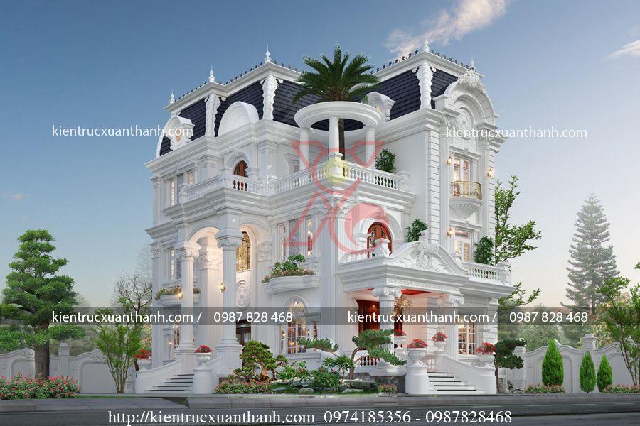 mẫu biệt thự 3 tầng đẹp BT18337 - Ảnh 1