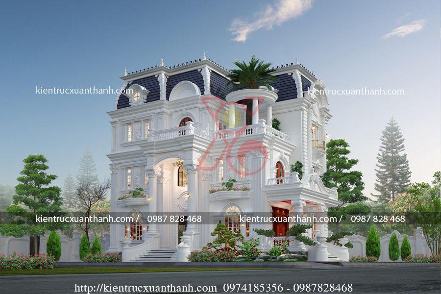 mẫu biệt thự 3 tầng đẹp BT18337 - Ảnh 2