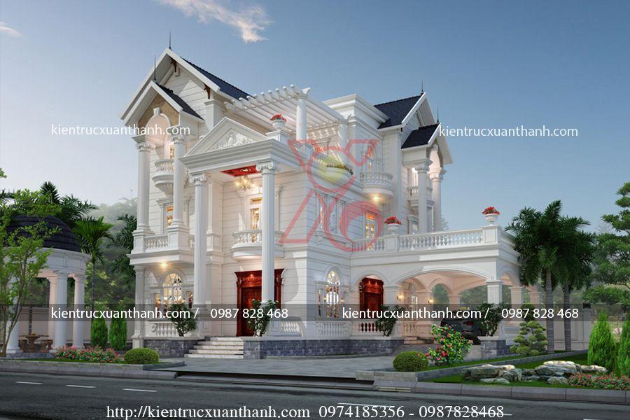 thiết kế biệt thự 2 tầng tân cổ điển BT18334 - Ảnh 3