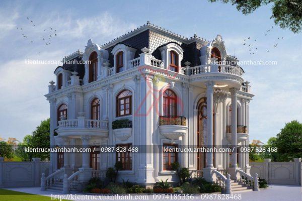 thiết kế biệt thự 3 tầng cổ điển BT18480 - Ảnh 2