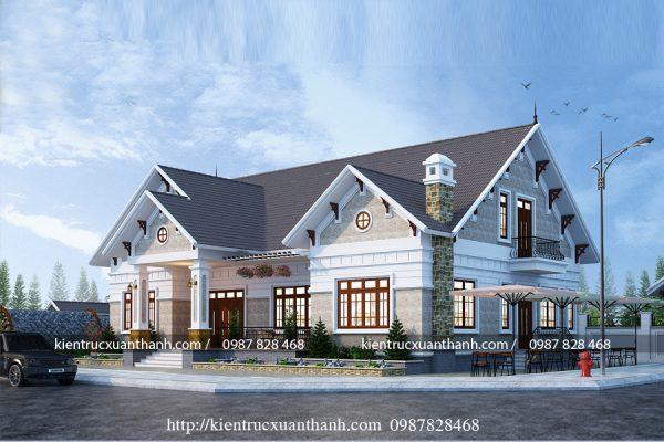 biệt thự 1 tầng mái thái 16314 - Ảnh 1