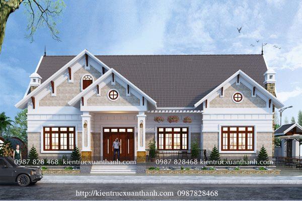 Biệt thự 1 tầng mái thái BT16314 - Ảnh 2-1