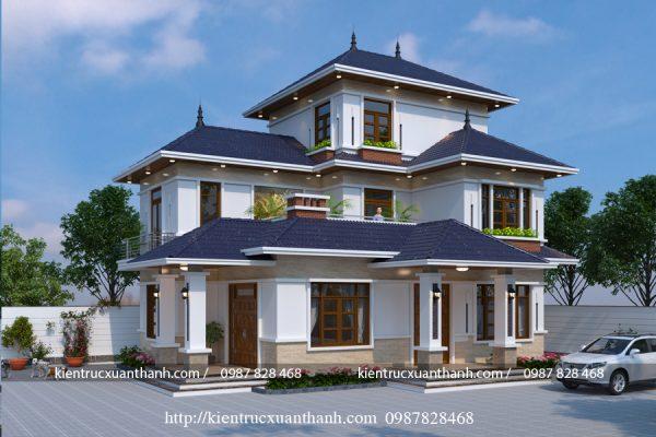 thiết kế biệt thự 2 tầng mái nhật BT18392 - Ảnh 1
