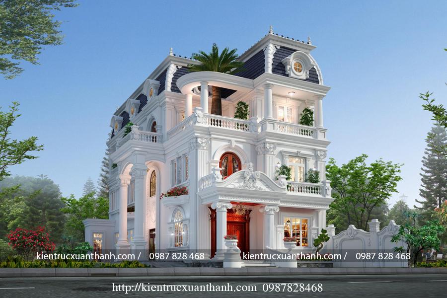 Biệt thự 3 tầng tân cổ điển đẹp BT18604 - Ảnh 1