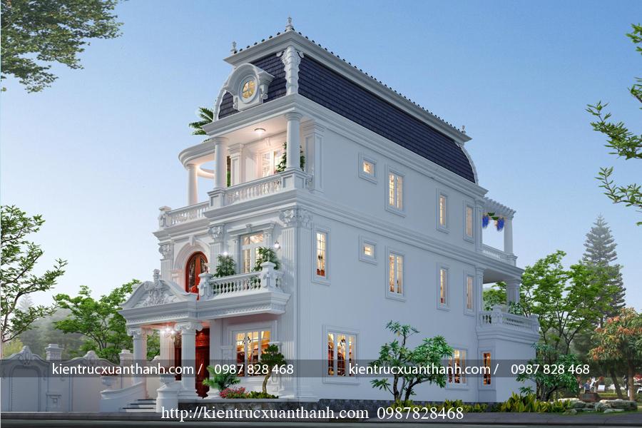 Biệt thự 3 tầng tân cổ điển đẹp BT18604 - Ảnh 2