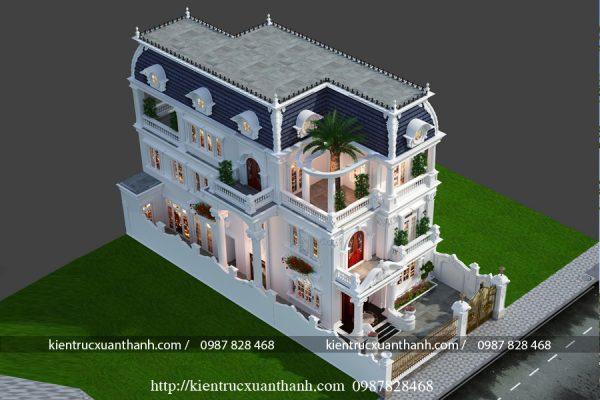 Biệt thự 3 tầng tân cổ điển đẹp BT18604 - Ảnh 3