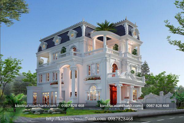 Biệt thự 3 tầng tân cổ điển đẹp BT18604 - Ảnh 4