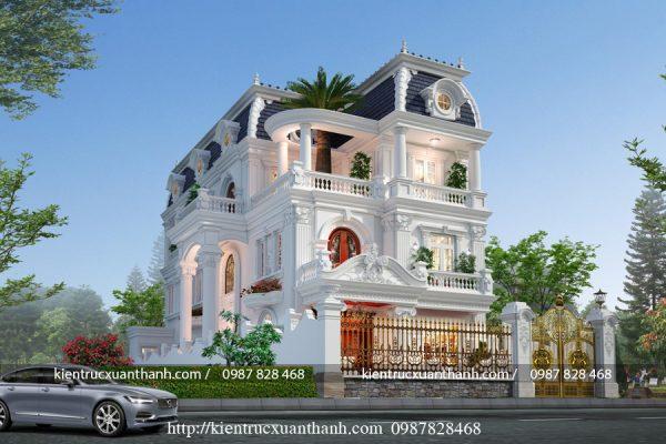 Biệt thự 3 tầng tân cổ điển đẹp BT18604 - Ảnh 5