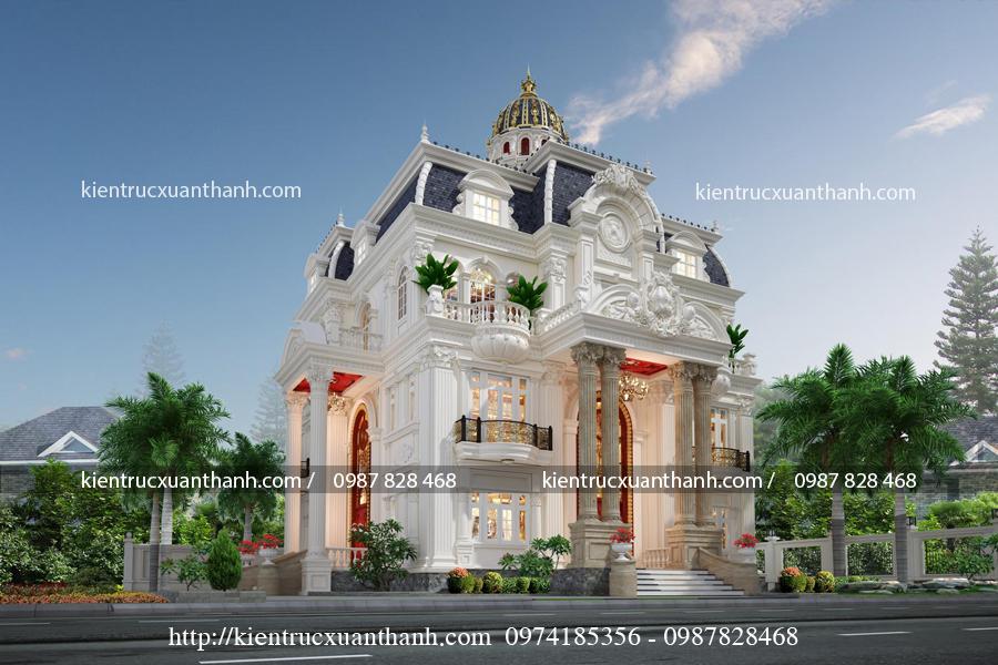 mẫu lâu đài 3 tầng đẹp mê mẩn LD10005 - Ảnh 2