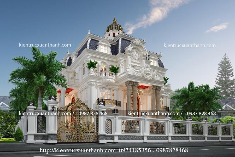 mẫu lâu đài 3 tầng đẹp mê mẩn LD10005 - Ảnh 3