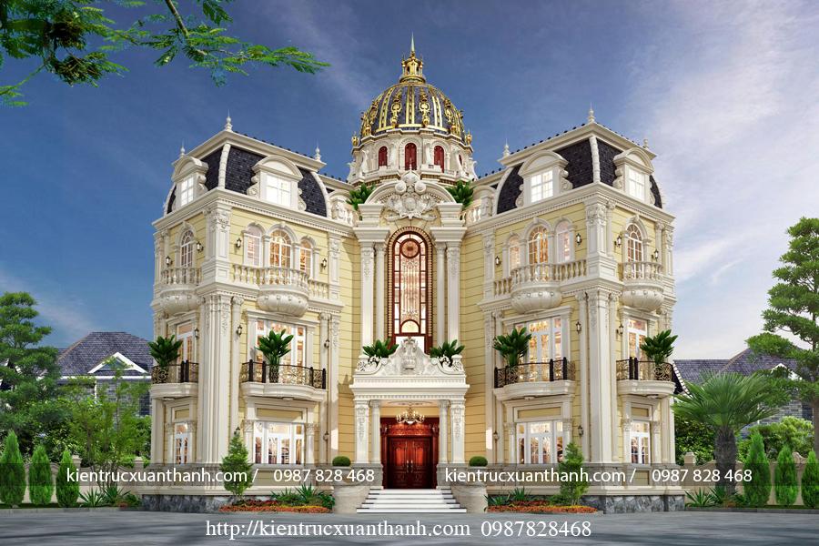 biệt thự 4 tầng phong cách cổ điển nguy nga tráng lệ BT40015 - Ảnh 2