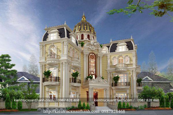 biệt thự 4 tầng phong cách cổ điển nguy nga tráng lệ BT40015 - Ảnh 3