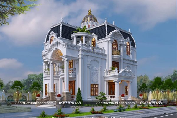 biệt thự 4 tầng tân cổ điển siêu đẹp BT40013 - Ảnh 2