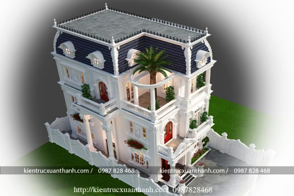 biệt thự 4 tầng tân cổ điển kiểu pháp ấn tượng BT40016 - Ảnh 2