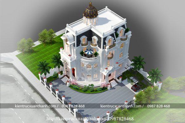 biệt thự tân cổ điển 4 tầng đẹp BT40018 - Ảnh 3