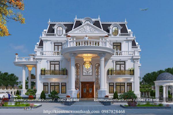 dinh thự kiểu pháp 3 tầng LD10001 - Ảnh 2