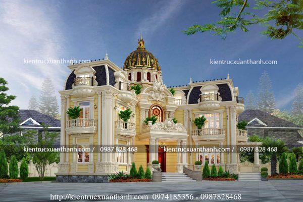 lâu đài cổ điển 2 tầng nguy nga tráng lệ LD10004 - Ảnh 2