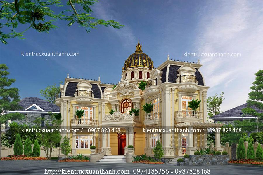 lâu đài cổ điển 2 tầng nguy nga tráng lệ LD10004 - Ảnh 3