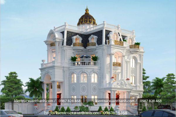 thiết kế lâu đài biệt thự pháp LD10003 - Ảnh 3