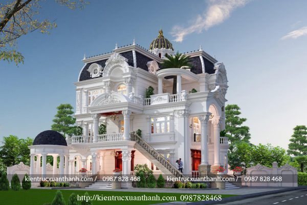 Tư vấn thiết kế lâu đài kiểu Pháp siêu đẹp LD10008 - Ảnh 1