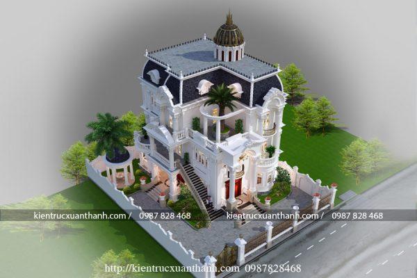 Tư vấn thiết kế lâu đài kiểu Pháp siêu đẹp LD10008 - Ảnh 2
