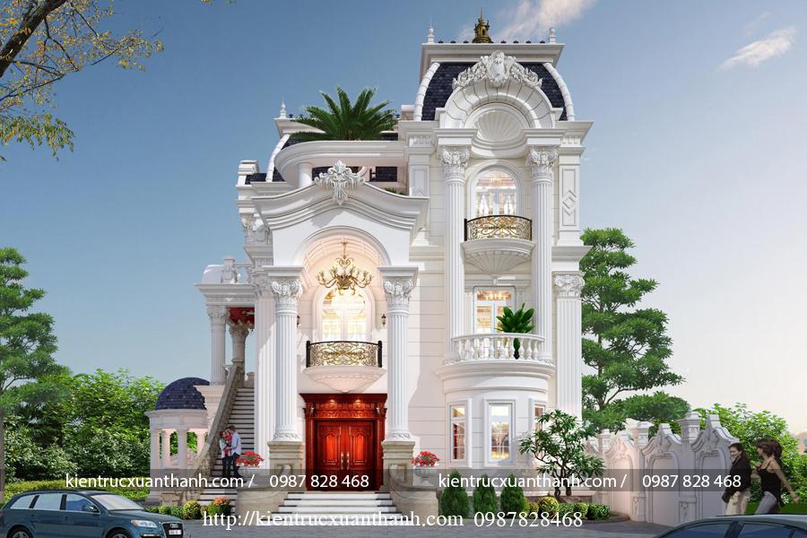 Tư vấn thiết kế lâu đài kiểu Pháp siêu đẹp LD10008 - Ảnh 3