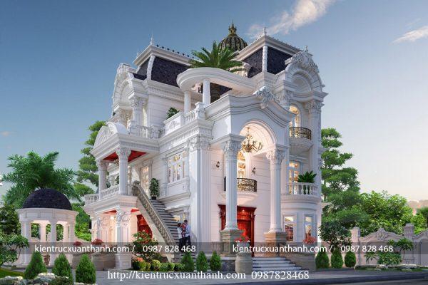 Tư vấn thiết kế lâu đài kiểu Pháp siêu đẹp LD10008 - Ảnh 4
