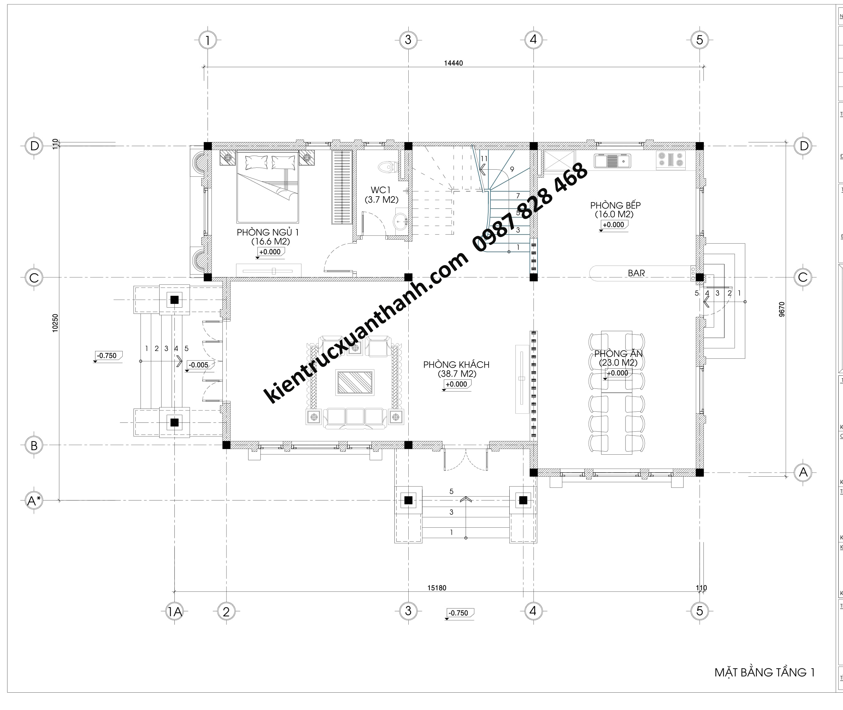 Mặt bằng biệt thự 2 tầng mái thái siêu đẹp BT18330