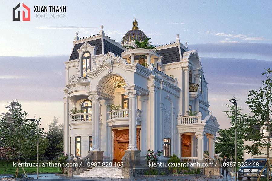 biệt thự 3 tầng tân cổ điển đẹp 350 - Ảnh 1