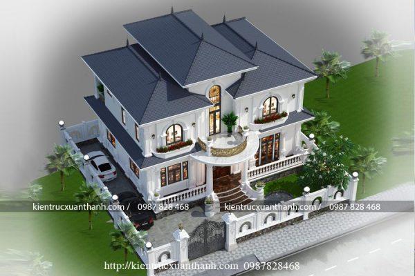 mẫu biệt thự 2 tầng mái Nhật 498 - Ảnh 2