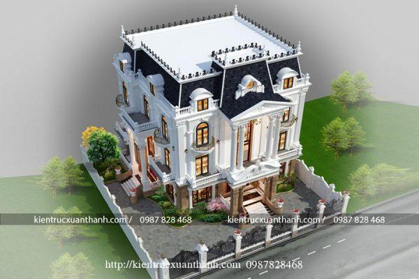 Mẫu biệt thự 3 tầng kiểu Pháp 606 - Ảnh 2