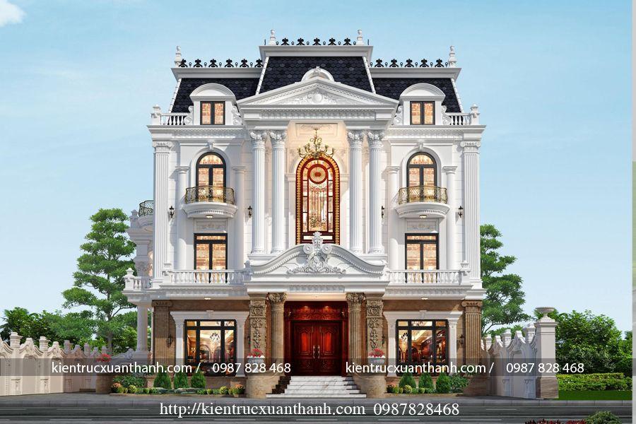 Mẫu biệt thự 3 tầng kiểu Pháp 606 - Ảnh 3