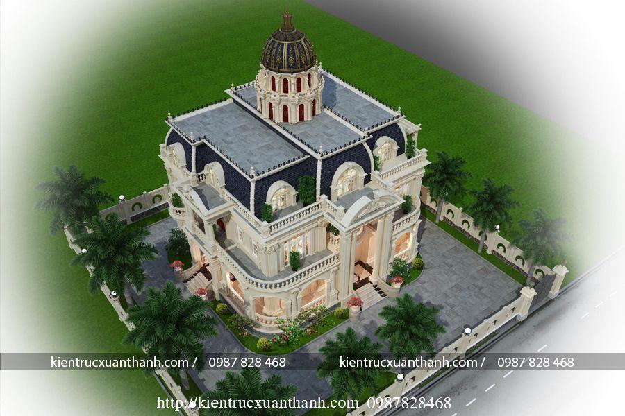 Mẫu biệt thự tân cổ điển 605 - Ảnh 3