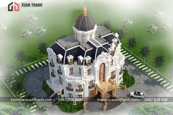 Biệt thự 4 tầng tân cổ điển sang trọng 353 - Ảnh 2