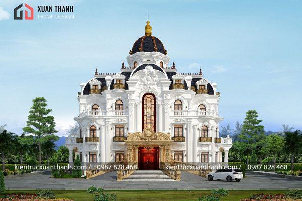 Biệt thự 4 tầng tân cổ điển sang trọng 353 - Ảnh 3