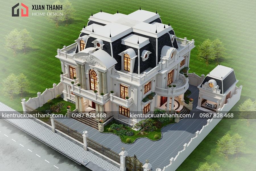 Mẫu biệt thự 2 tầng tân cổ điển đẹp lung linh 356 - Ảnh 3
