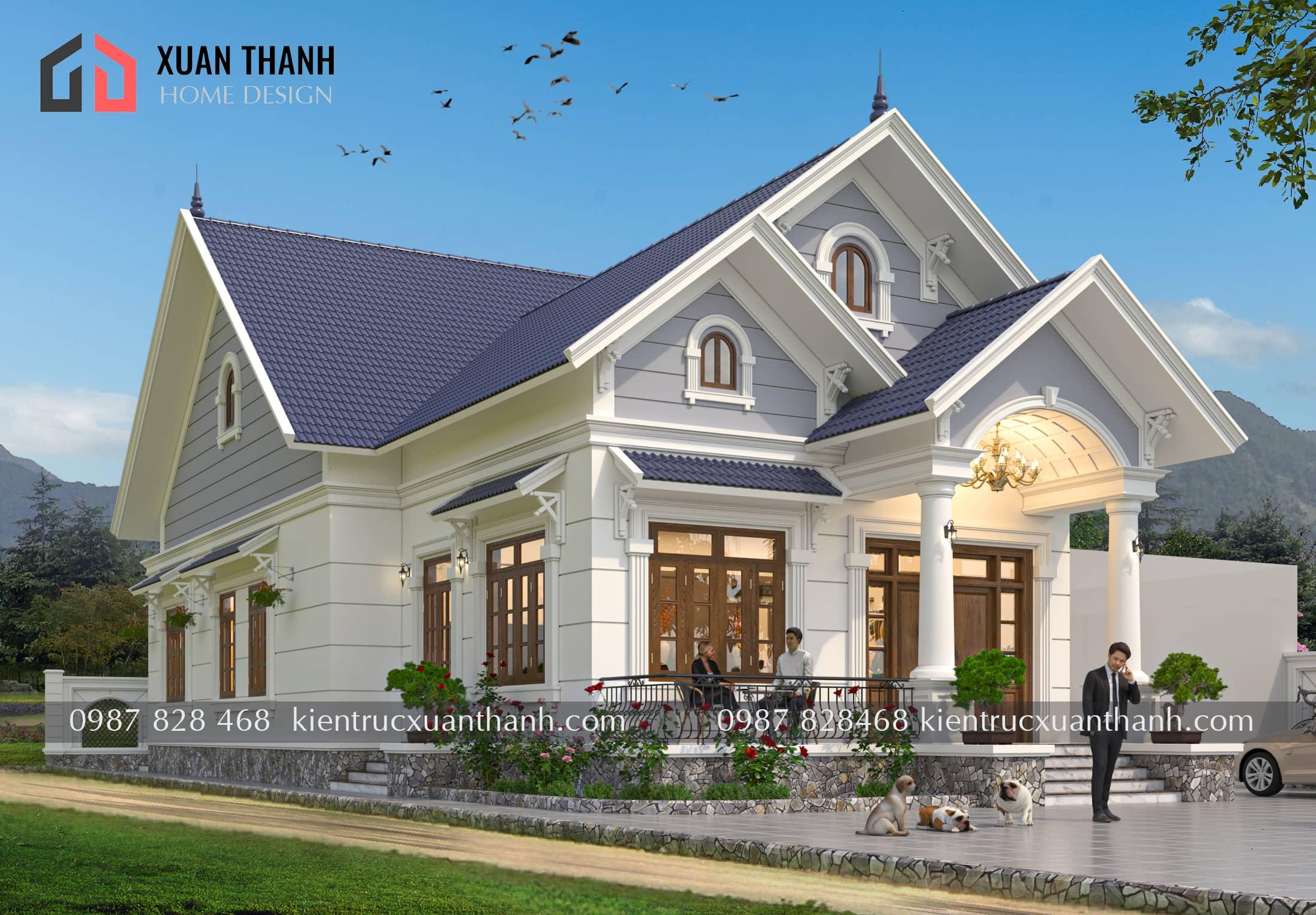 nhà 1 tầng mái thái đơn giản BT18322 - Ảnh 1