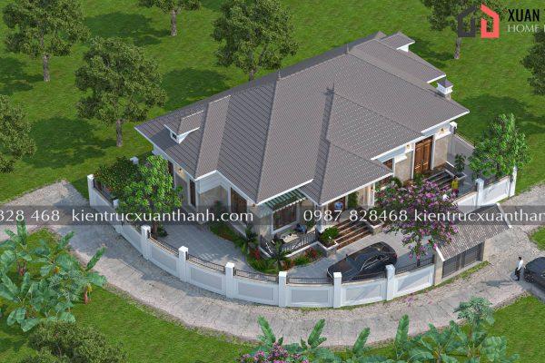 Nhà mái nhật 1 tầng hiện đại BT16321 - Ảnh 2