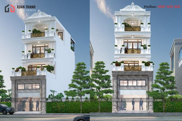nhà phố 5 tầng tân cổ điển đẹp NP50355 - Ảnh 4
