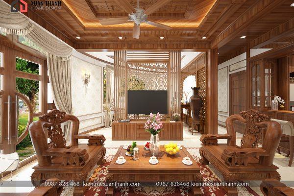 mẫu nội thất phòng khách tân cổ điển NT18054 - Ảnh 1