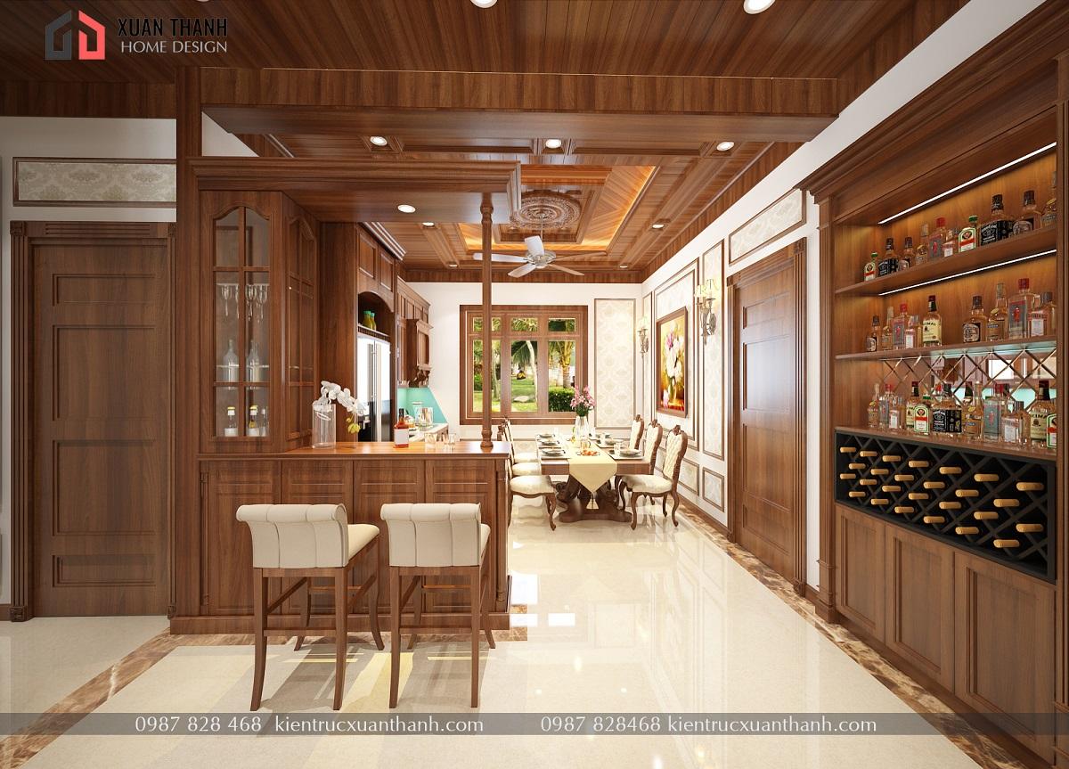 mẫu nội thất phòng khách tân cổ điển NT18054 - Ảnh 2
