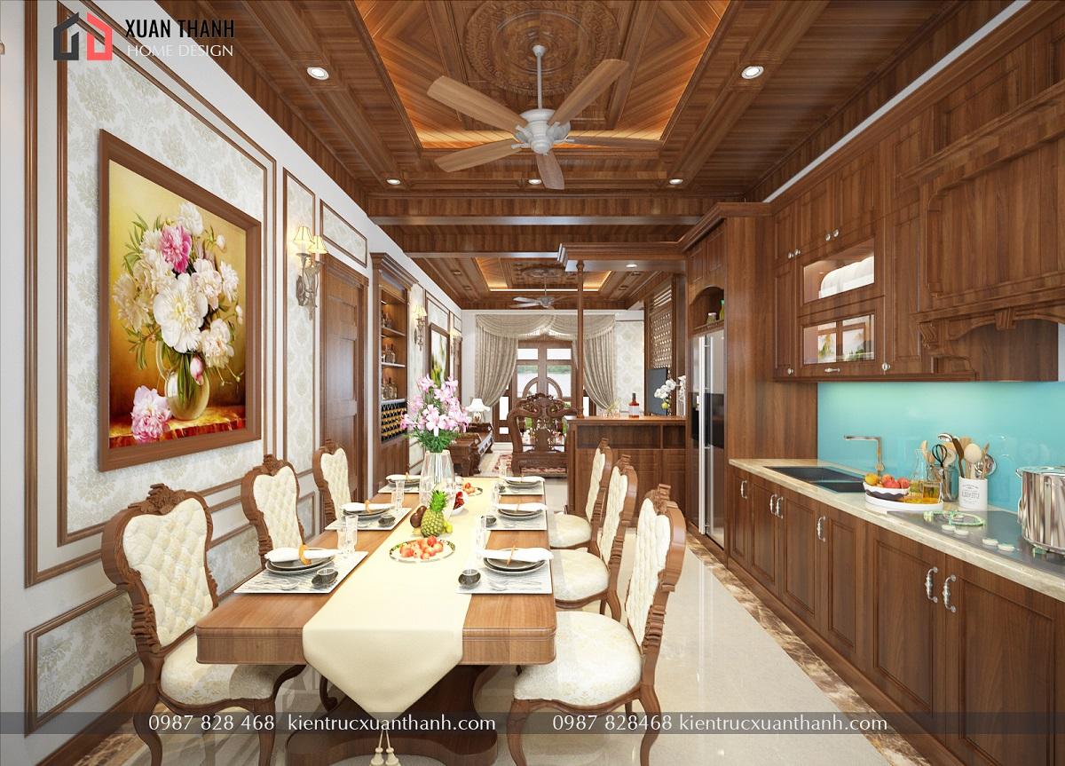 mẫu nội thất phòng khách tân cổ điển NT18054 - Ảnh 3