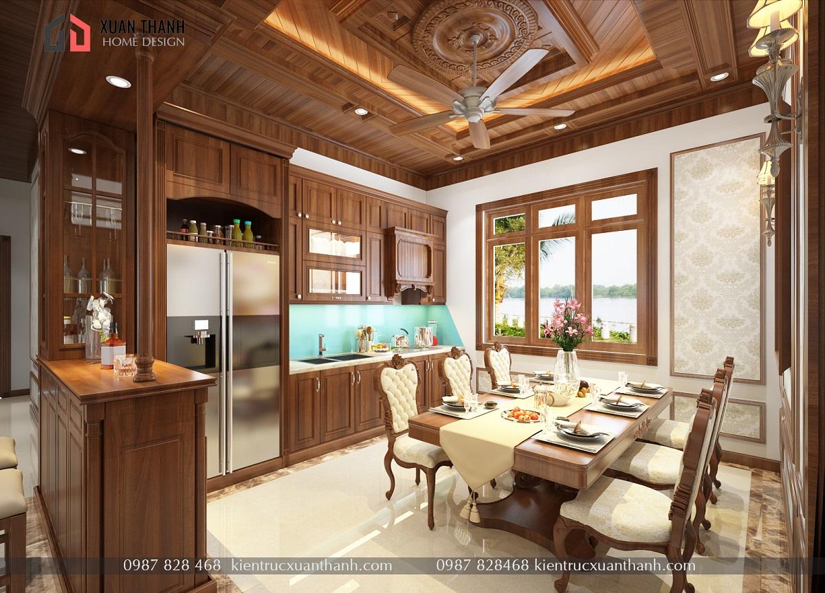 mẫu nội thất phòng khách tân cổ điển NT18054 - Ảnh 4