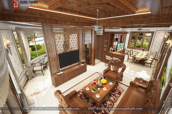 mẫu nội thất phòng khách tân cổ điển NT18054 - Ảnh 5